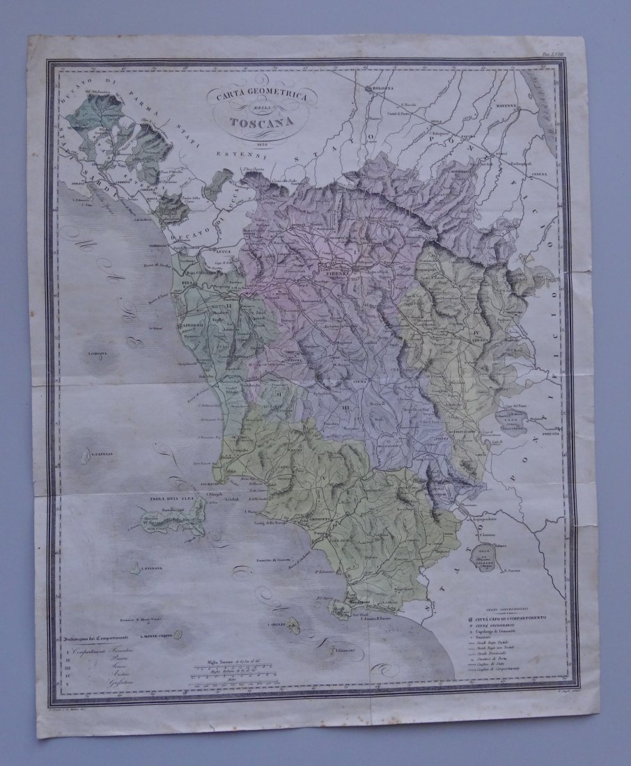 Antique 1839 Old Italy Toscana Monte Cristo Old Hand