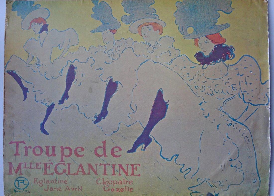 Vintage Toulouse-Lautrec Poster Troupe de Melle