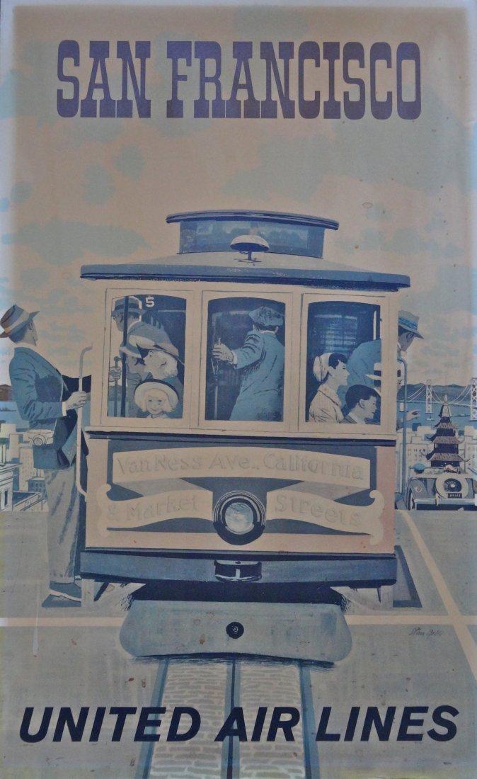 Vintage Original Large San Francisco Poster By Stan