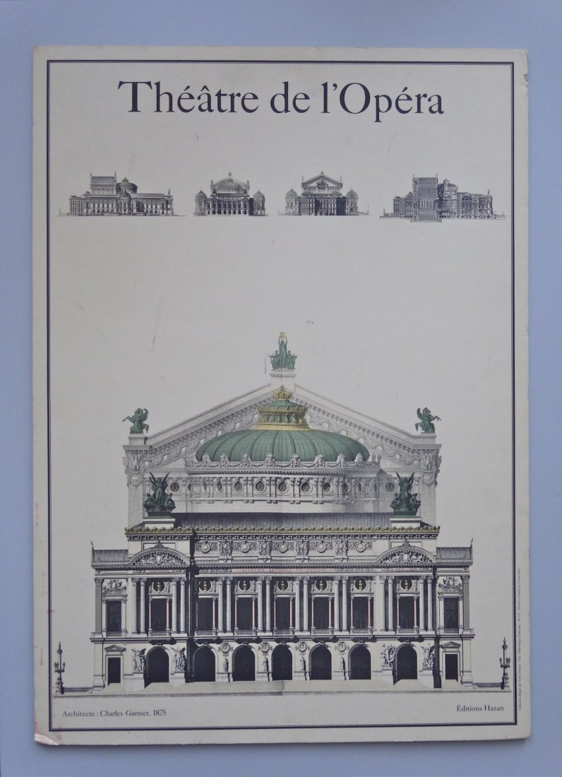 Architectural Print Charles Garnier Paris Opera House