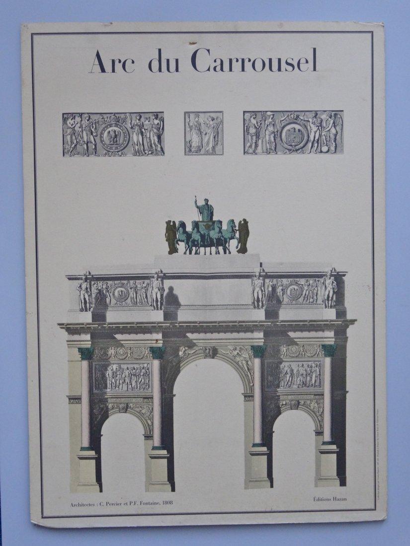 Vintage Triumphal Arch Architectural Print Arc de