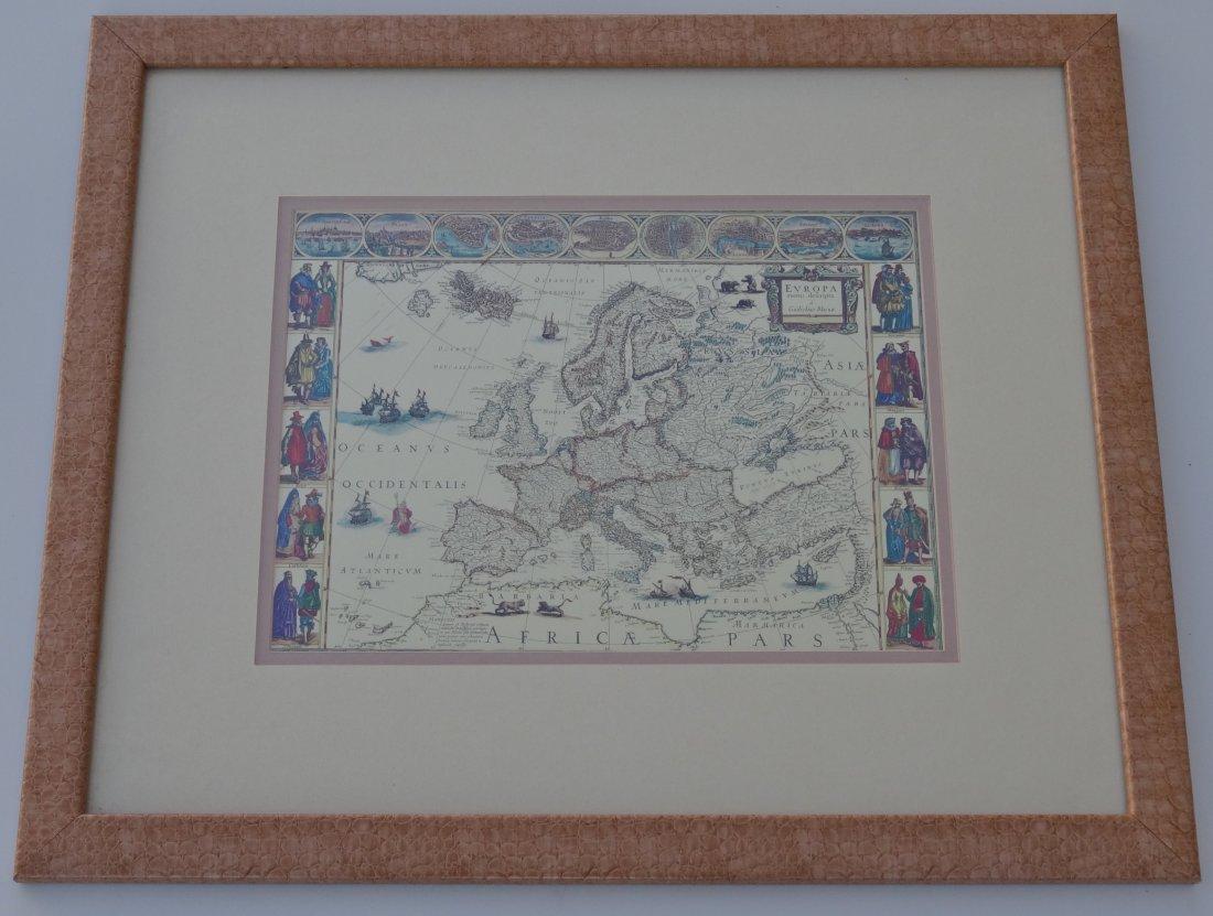 Guilielmo Blaeuw Antique Map Of Europe Vintage Reprint