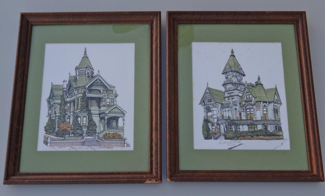 Pair of Vintage Architectural Prints San Francisco