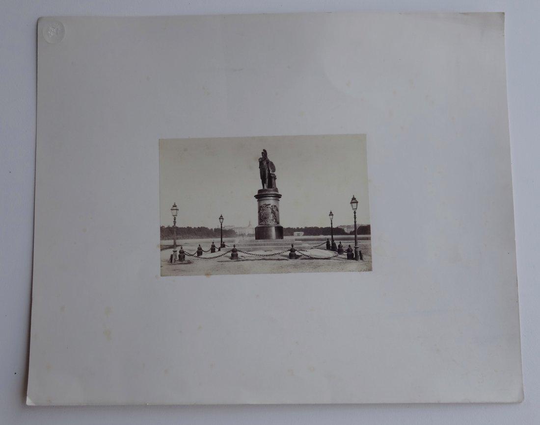 Antique Russian 1867 Original Signed Photo Monument Suv
