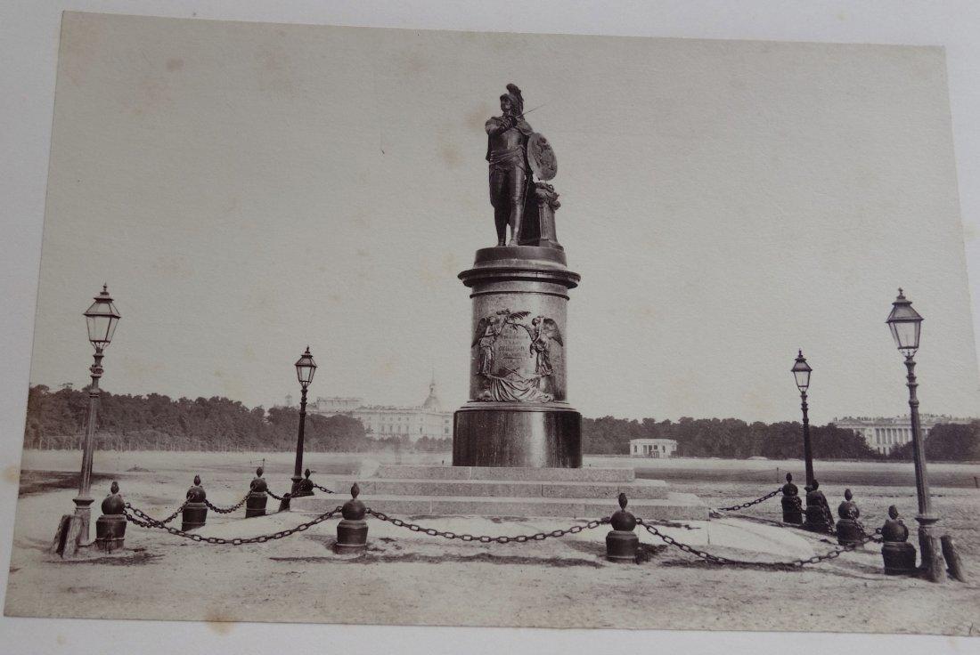 Antique Russian 1867 Original Signed Photo Monument Suv - 2