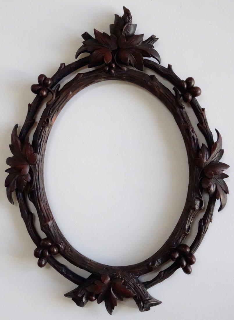 Black Forest Carved Walnut Picture Frame 8 x 10