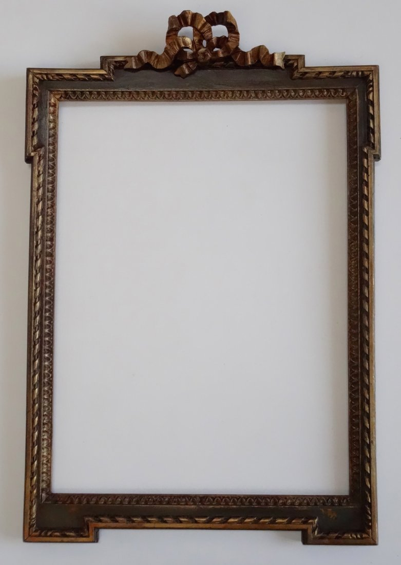 Antique French Louis XVI Carved Wood Picture Frame