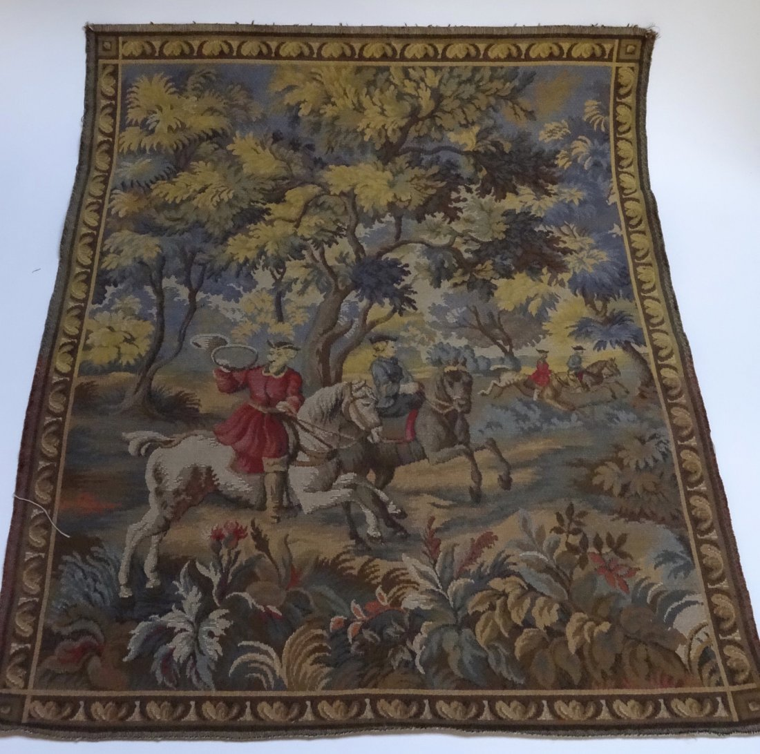 Vintage Hunting Scene Tapestry Wall Handing Never Used