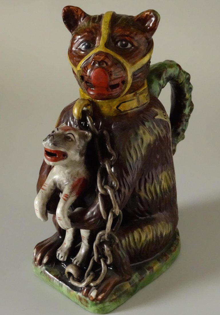 Staffordshire Style Pitcher Decanter Bear's Grease