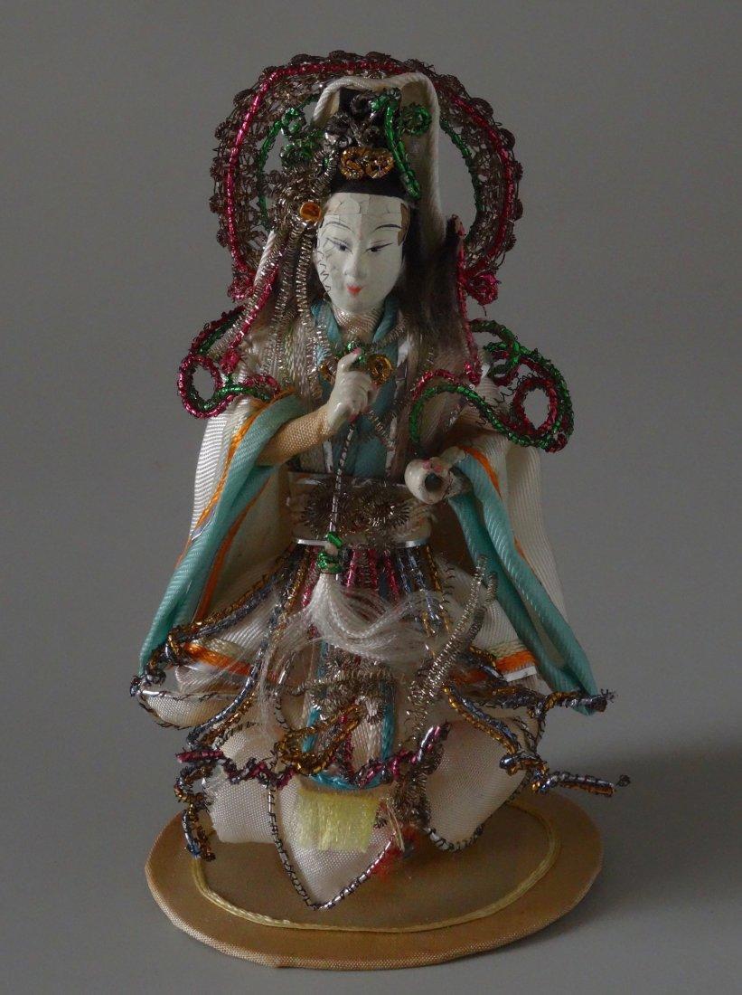 Vintage Chinese Guanyin Miniature Figurine Kwan Yin