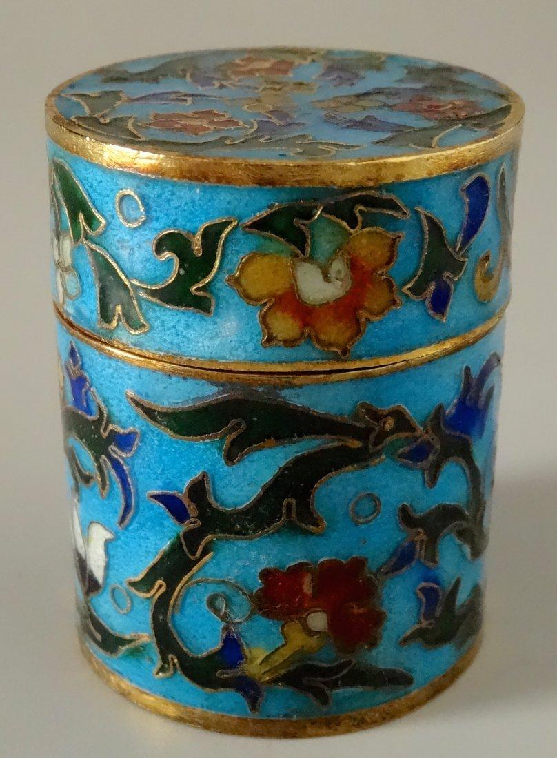Cylinder Cloisonne Box