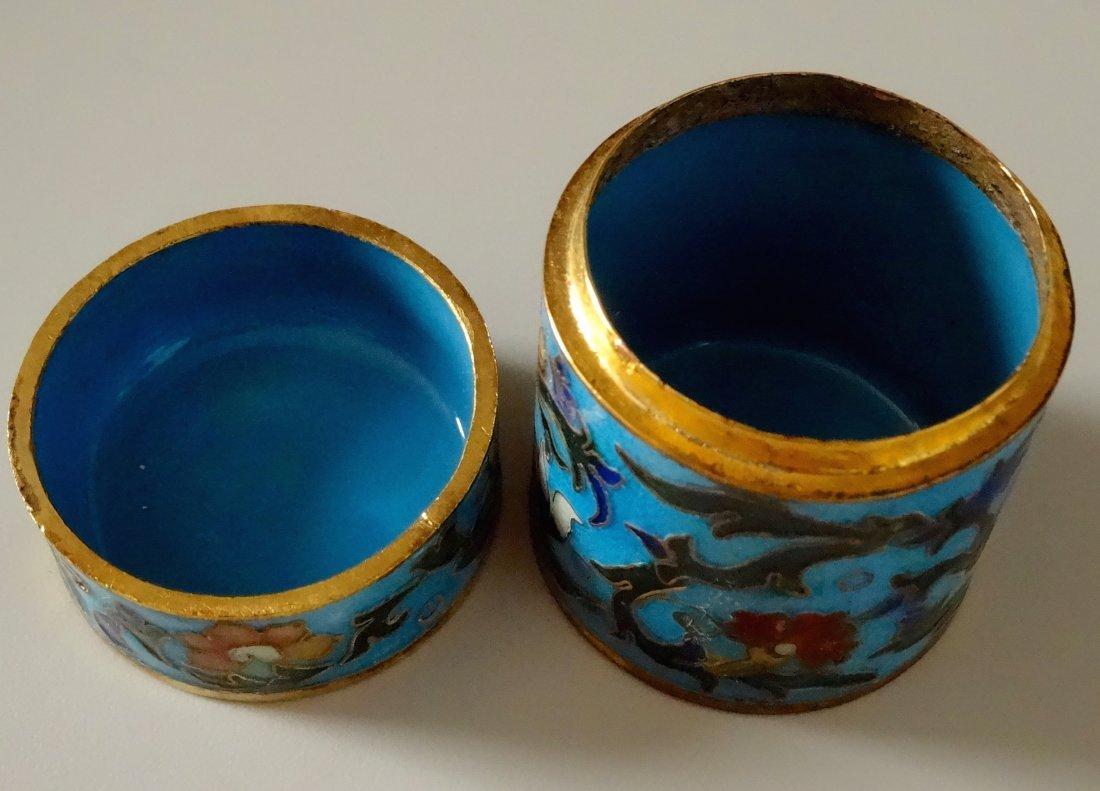 Cylinder Cloisonne Box - 3