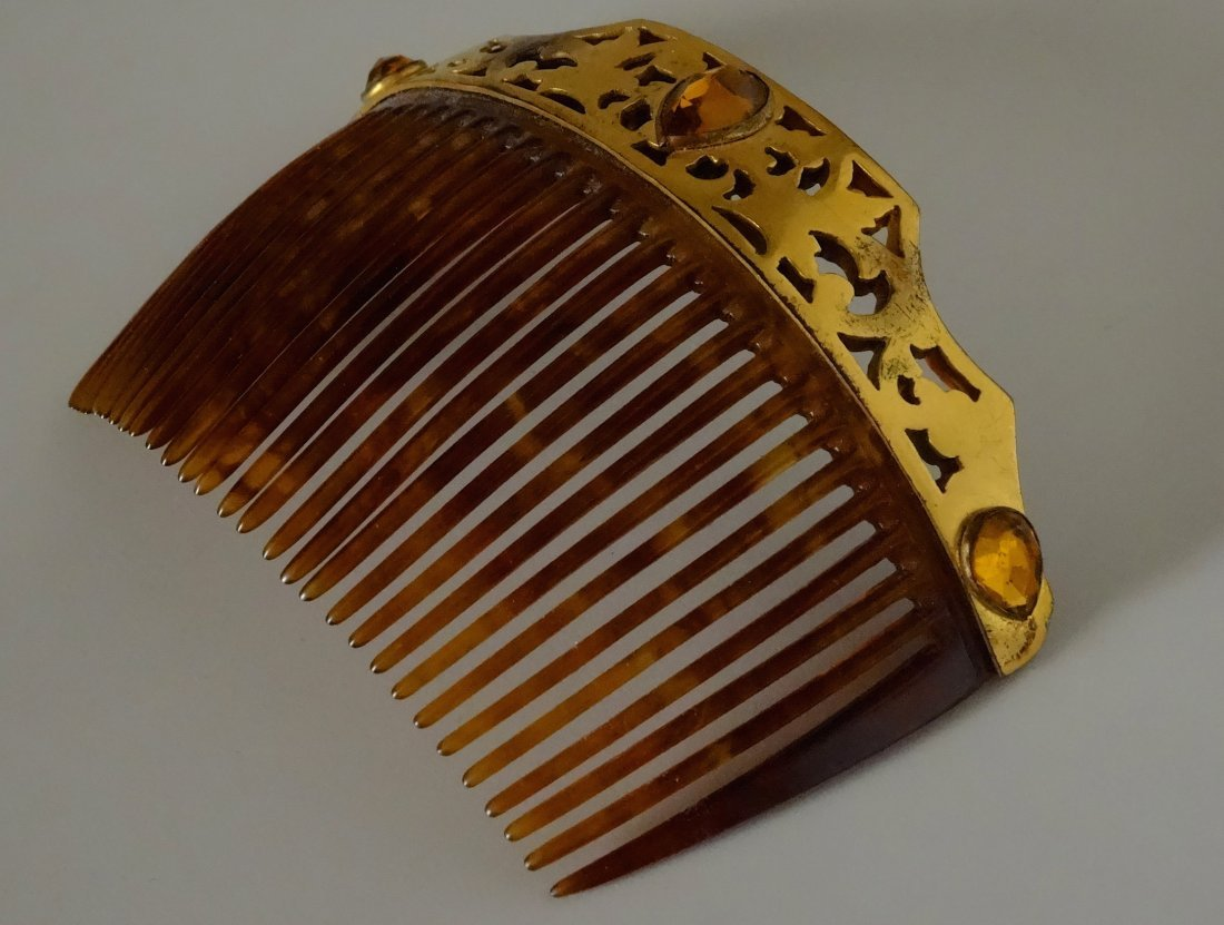 Vintage Jeweled Hair Comb - 2