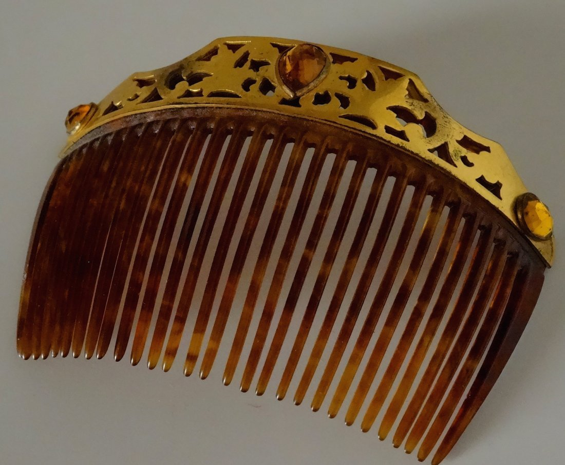 Vintage Jeweled Hair Comb - 4