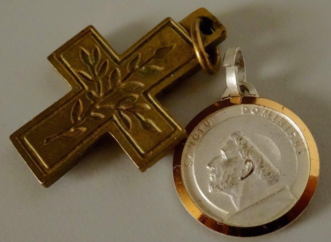 Vintage Rome Cross Pendant and Reliquary Sanctus - 4
