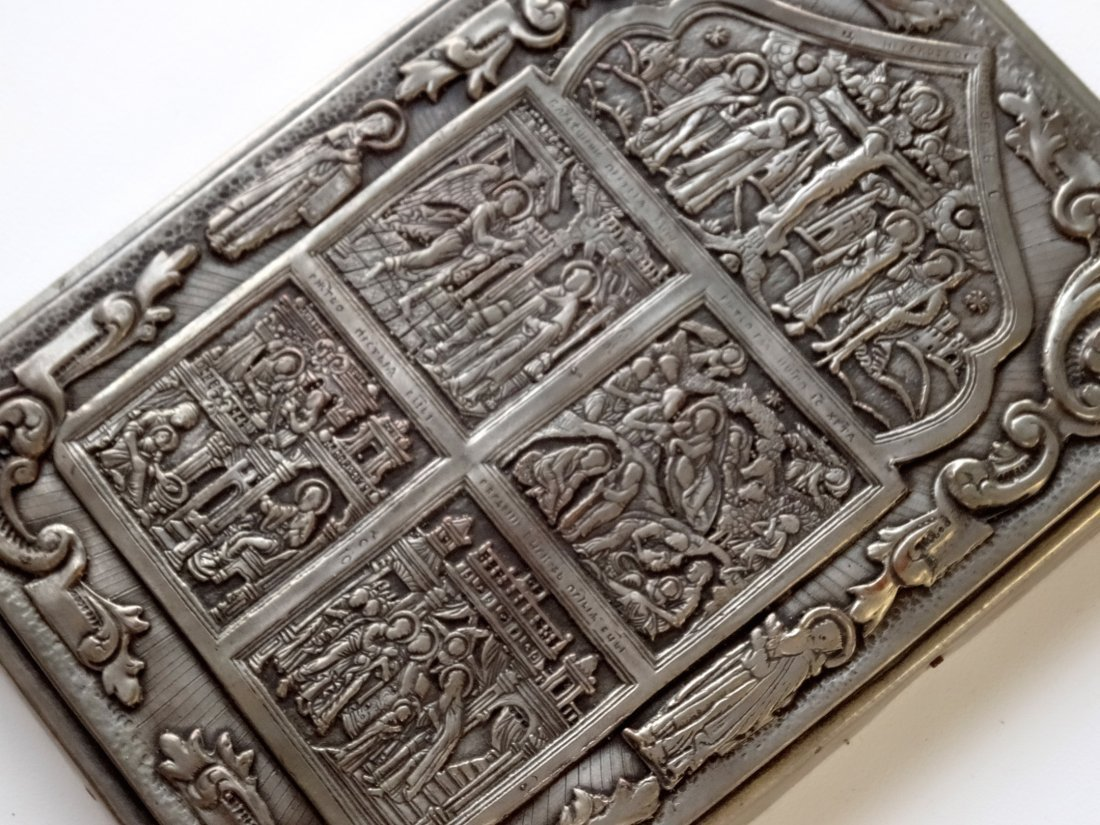 Embossed Metal Silvered Russian Style Icon - 2