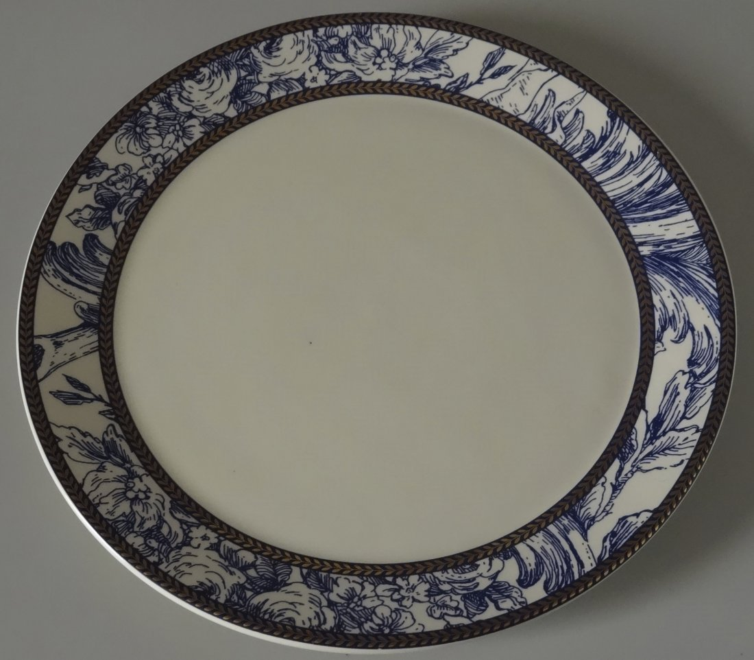 Vintage Mud Pie Blue and White Plate