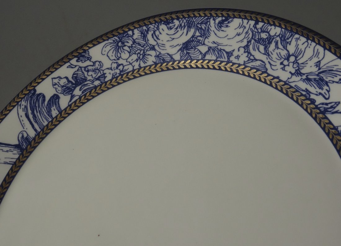 Vintage Mud Pie Blue and White Plate - 2