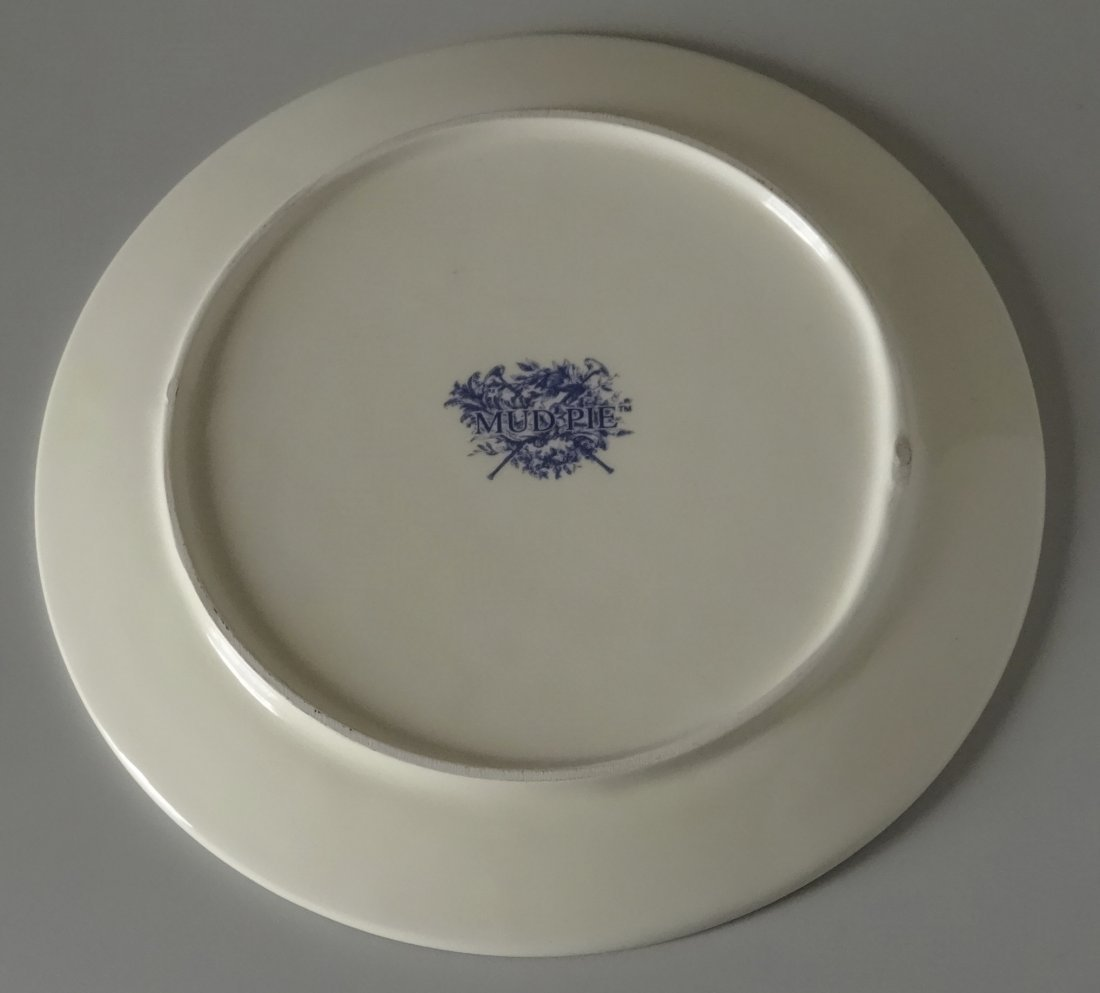 Vintage Mud Pie Blue and White Plate - 3