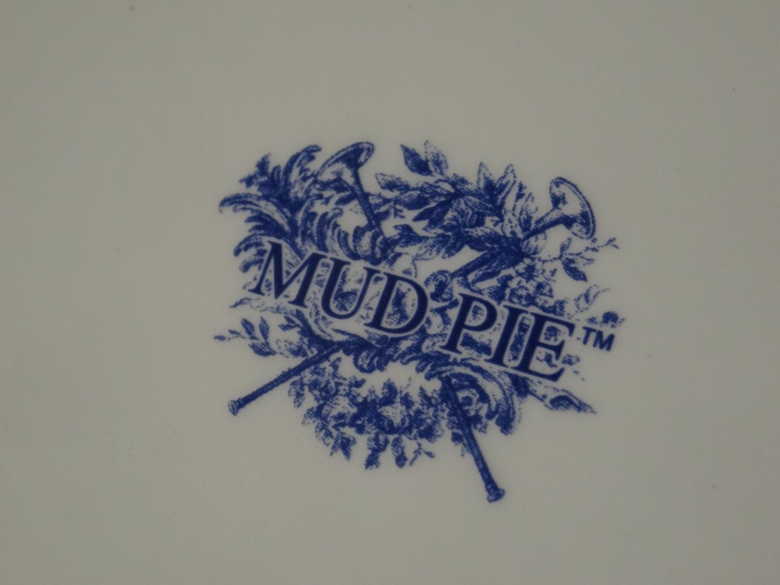 Vintage Mud Pie Blue and White Plate - 4