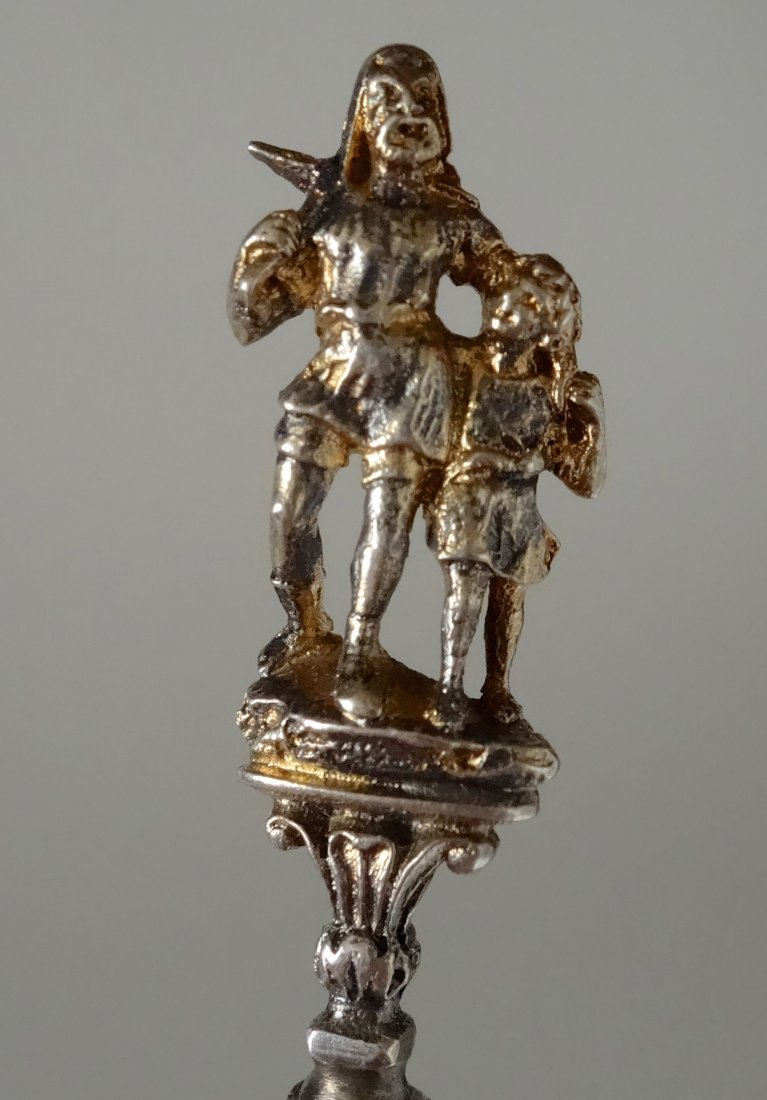 William Tell Lucerne Figural Souvenir 800 Silver Spoon