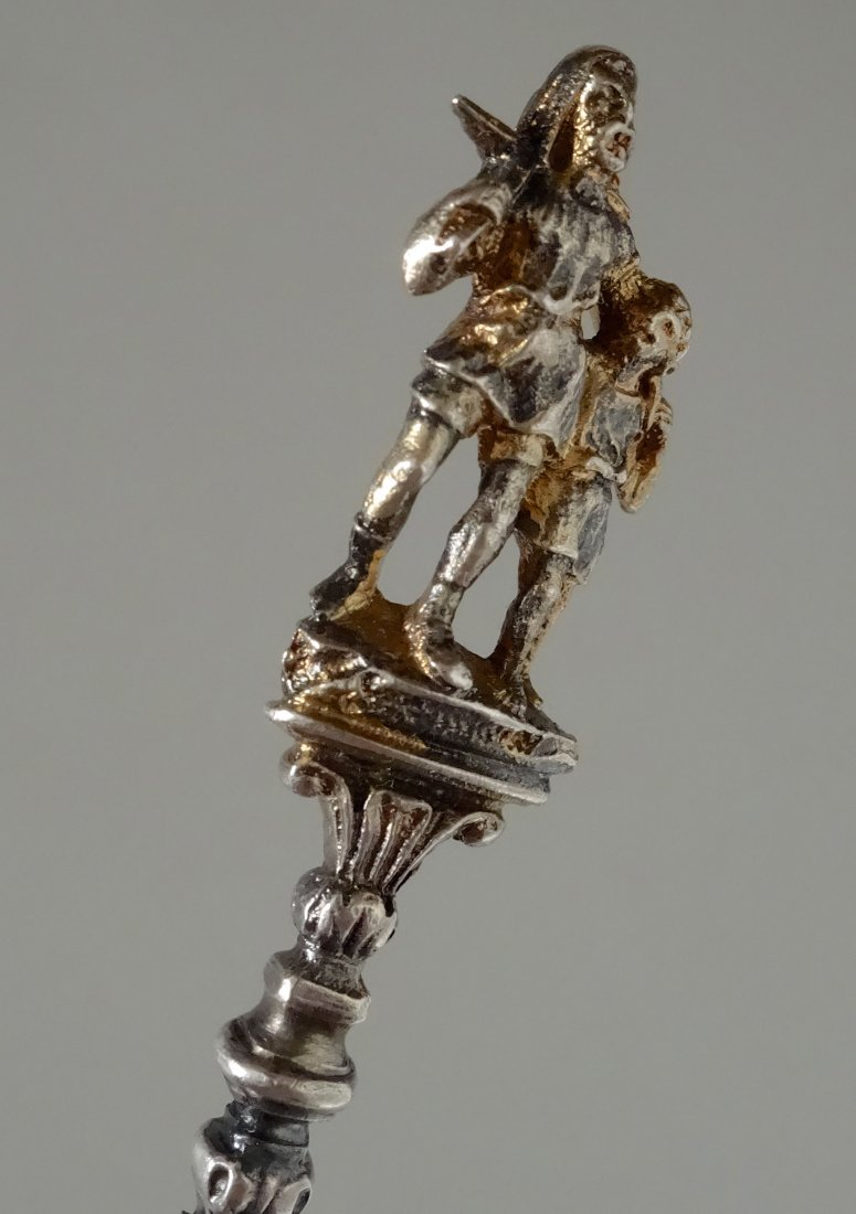 William Tell Lucerne Figural Souvenir 800 Silver Spoon - 4