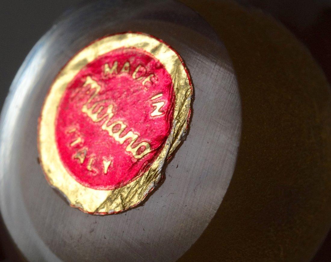 Italian Murano Art Glass Egg Paper Weight Gold Flecks - 5