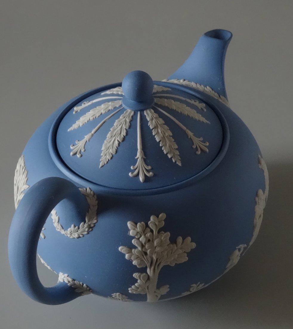 Large Wedgwood Blue Jasper Teapot - 4