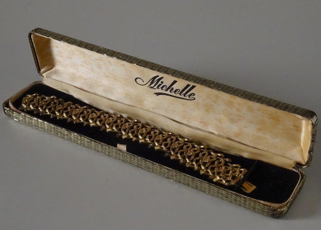 Vintage Mid Century Michele Costume Jewelry Bracelet