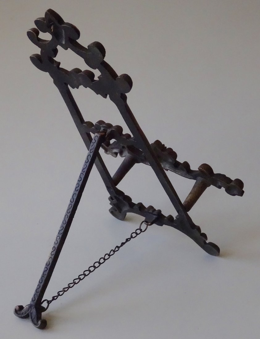 Cast Iron Easel Store Frame Display - 3