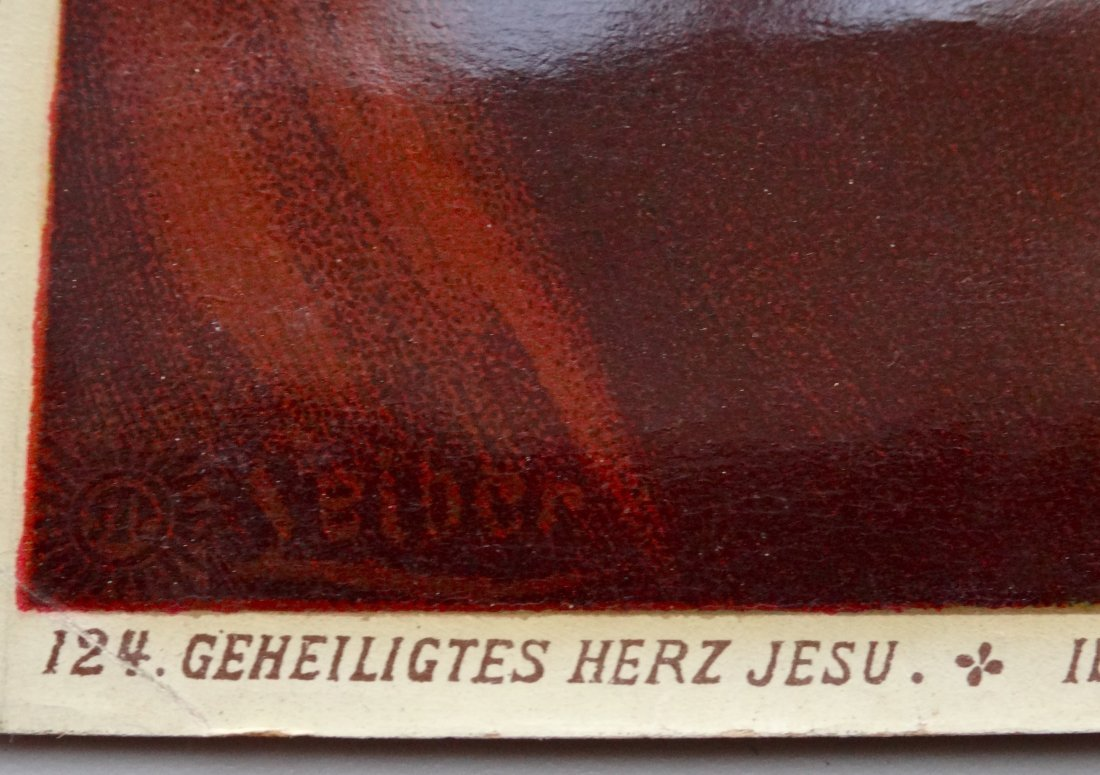 Victorian Jesus Religious Lithograph 124 Geneilightus - 2