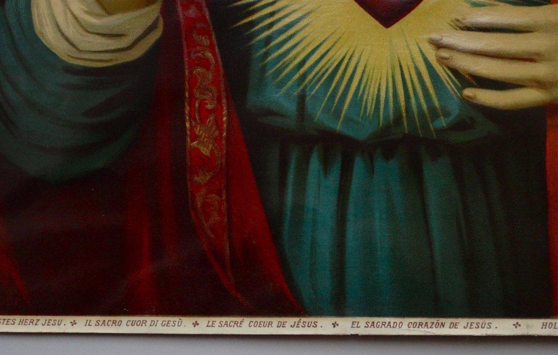 Victorian Jesus Religious Lithograph 124 Geneilightus - 4