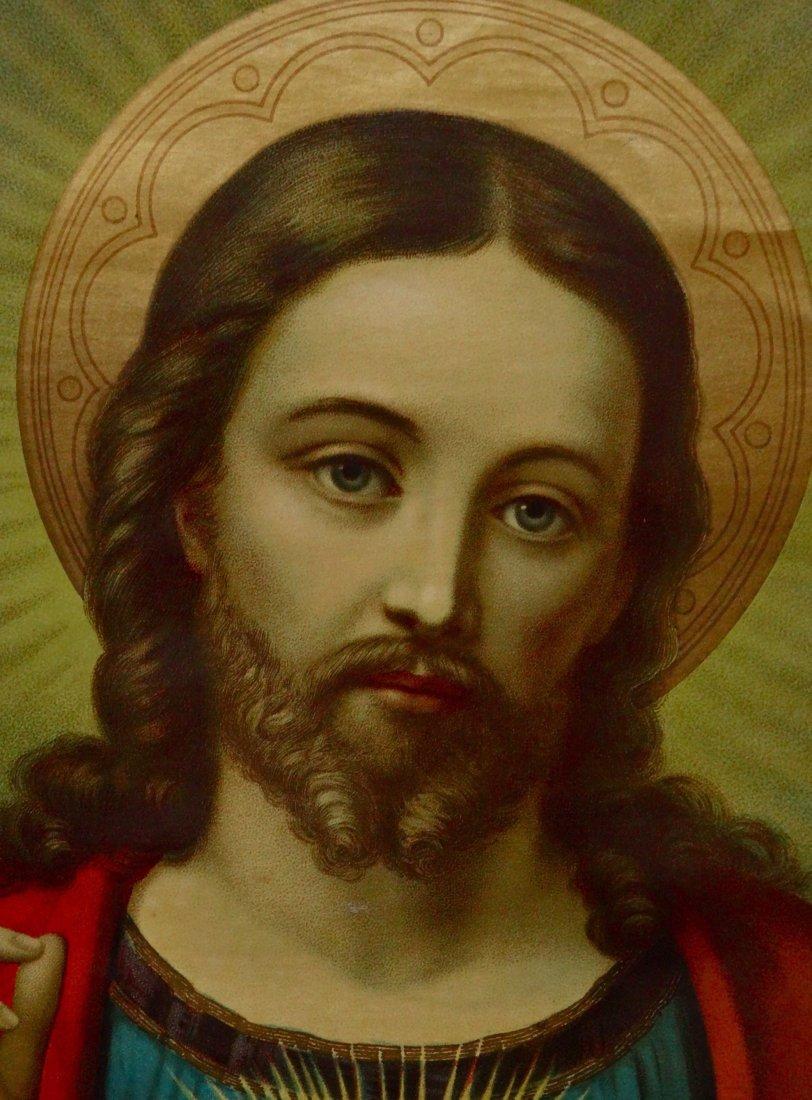 Victorian Jesus Religious Lithograph 124 Geneilightus - 5