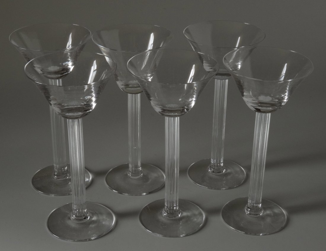 Art Deco Drinking Cocktail Glass Fluted Column