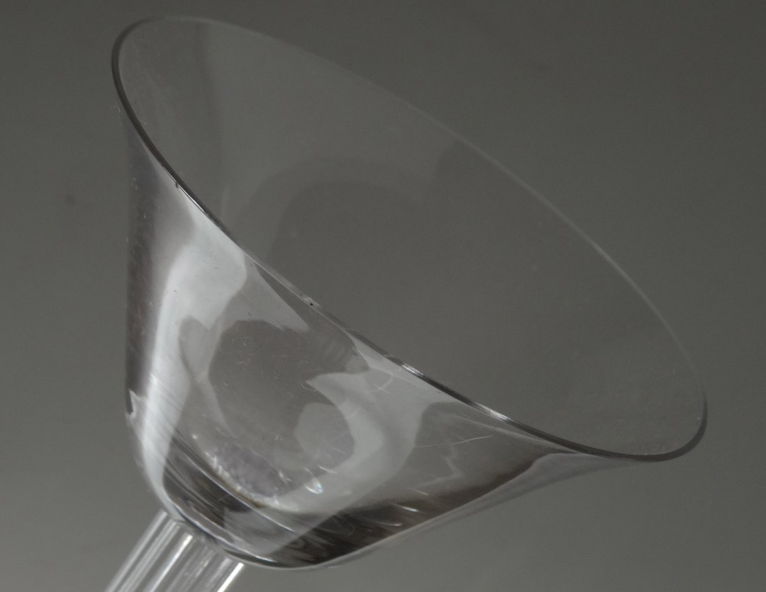 Art Deco Drinking Cocktail Glass Fluted Column - 3