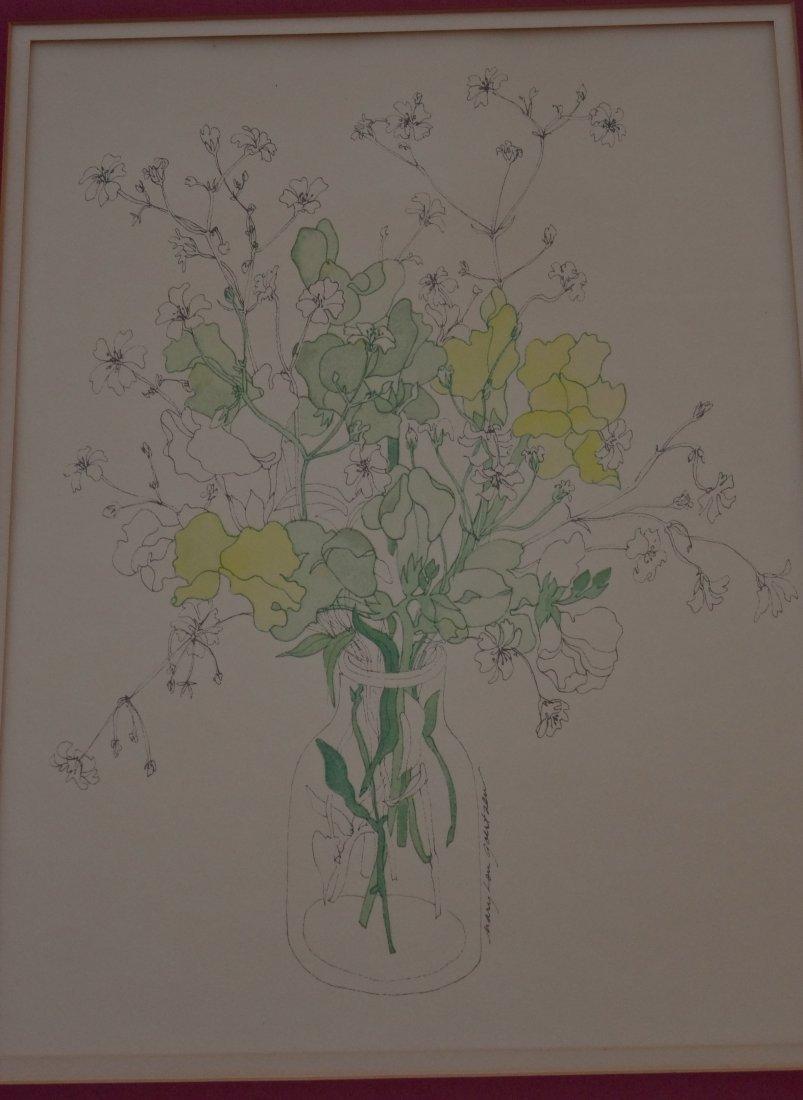 Vintage Mid Century Mary Lou Goertzen Botanical Print - 2