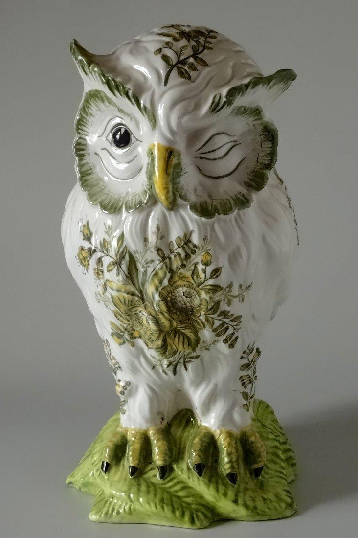 Vintage Mid Century Large Italian Ceramic Owl Hand