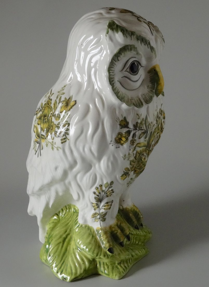 Vintage Mid Century Large Italian Ceramic Owl Hand - 2