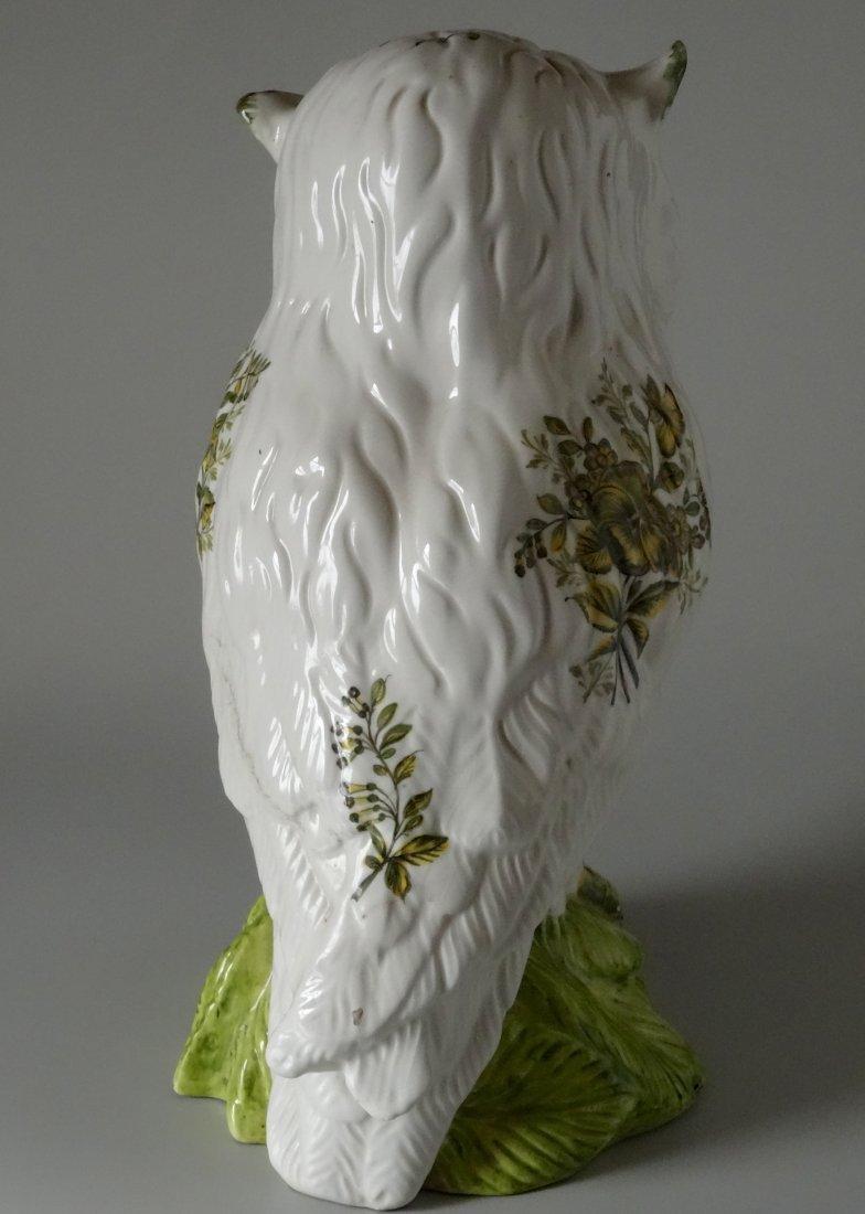 Vintage Mid Century Large Italian Ceramic Owl Hand - 3