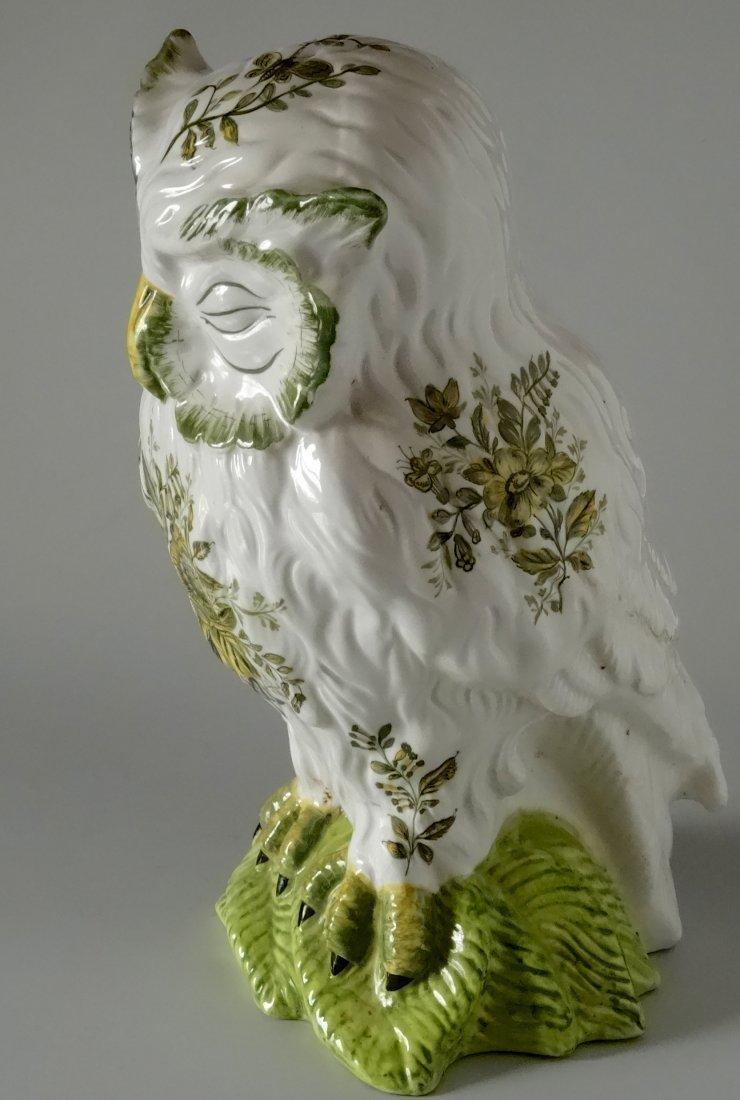 Vintage Mid Century Large Italian Ceramic Owl Hand - 4