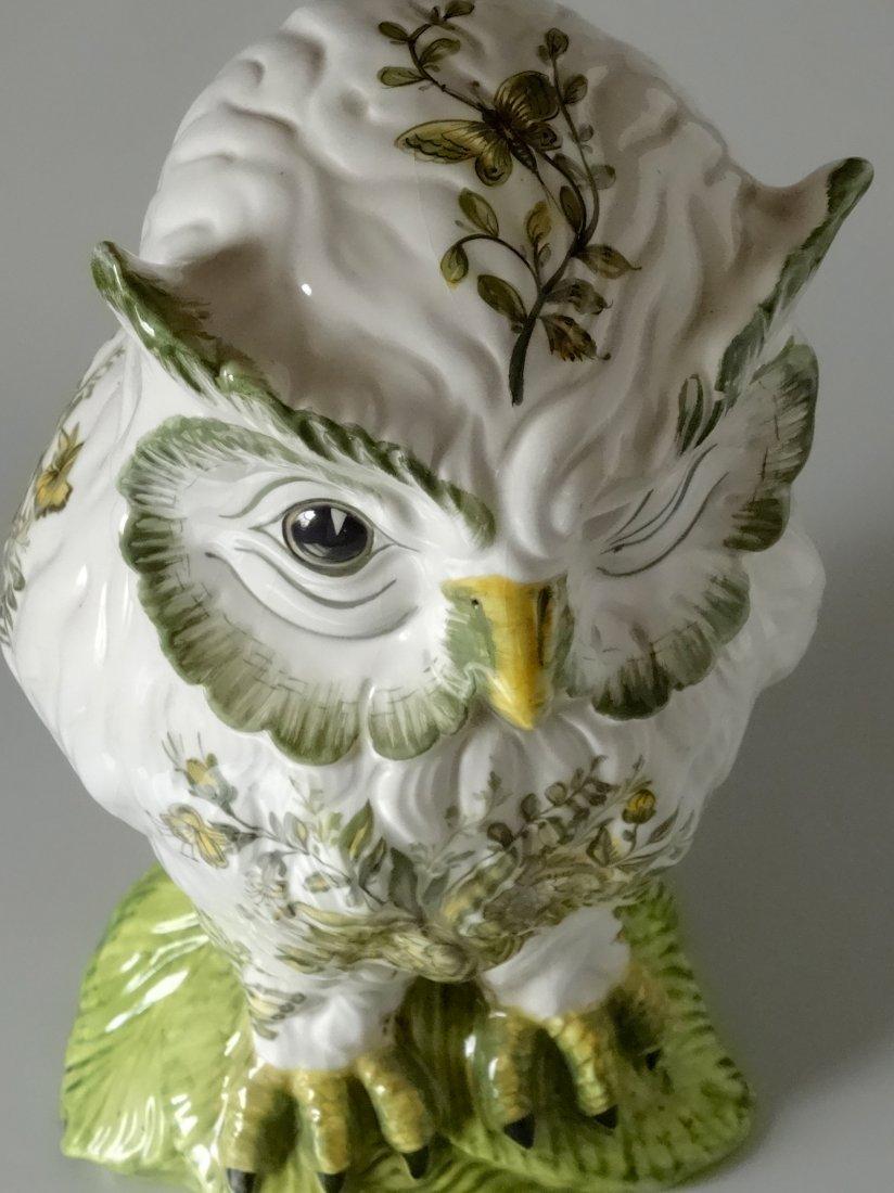 Vintage Mid Century Large Italian Ceramic Owl Hand - 5