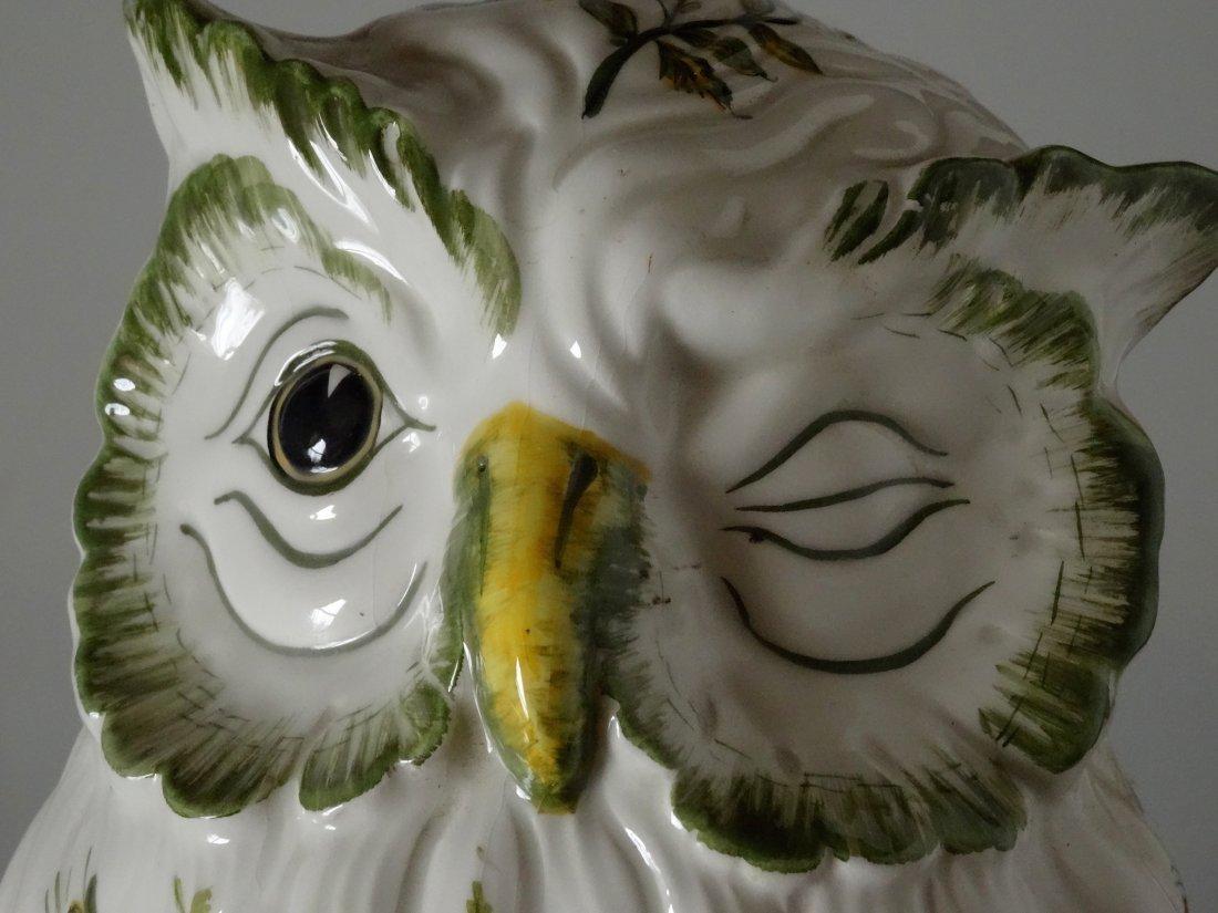 Vintage Mid Century Large Italian Ceramic Owl Hand - 6