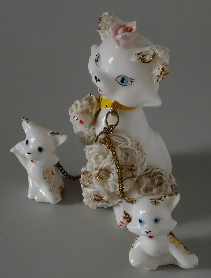 Very Kitschy Kitty Cat Mid Century Spaghetti Porcelain - 2