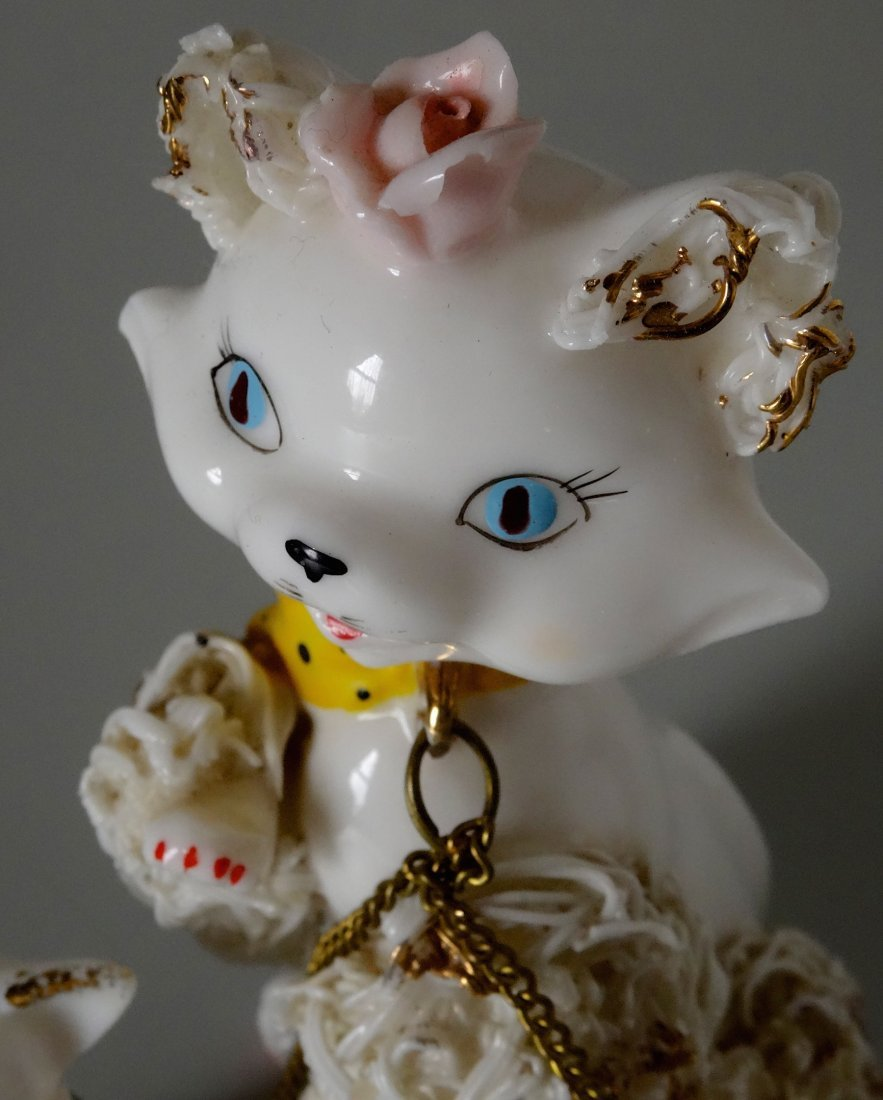Very Kitschy Kitty Cat Mid Century Spaghetti Porcelain - 3