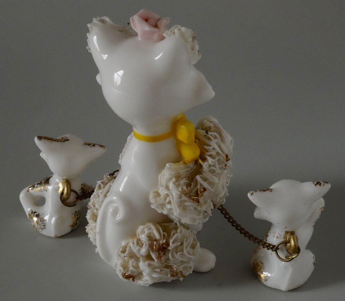 Very Kitschy Kitty Cat Mid Century Spaghetti Porcelain - 4