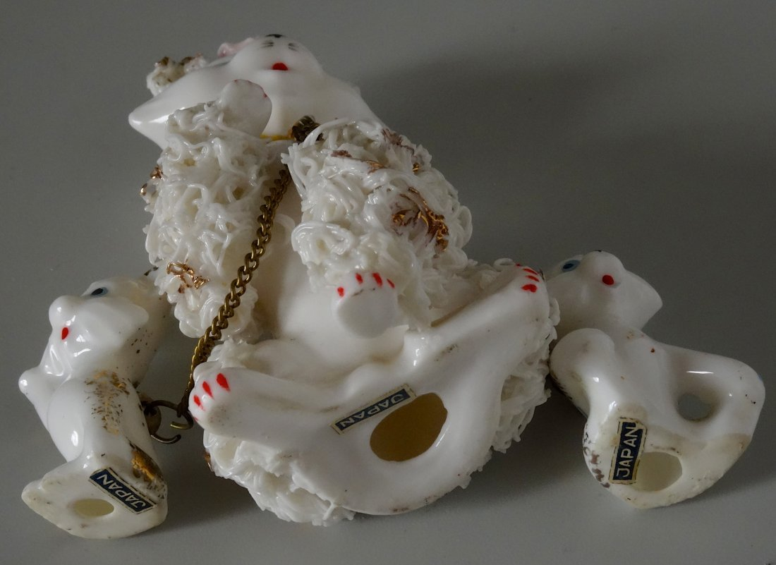 Very Kitschy Kitty Cat Mid Century Spaghetti Porcelain - 5