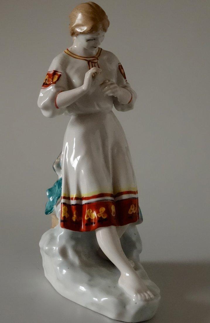 Vintage Mid Century USSR Russian Ukrainian Girl Large - 2
