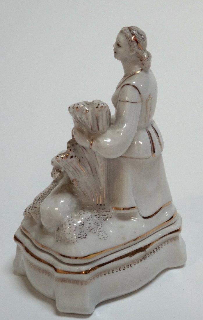 USSR Rare Belarus Soviet Propaganda Porcelain Figurine - 4