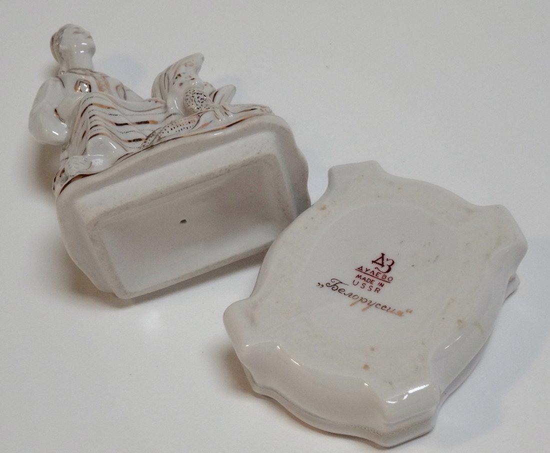 USSR Rare Belarus Soviet Propaganda Porcelain Figurine - 8
