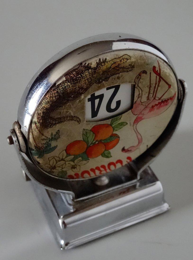 Antique Florida Flamingo Desk Top Perpetual Calendar - 3